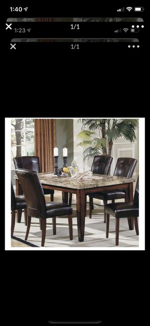 Granite table with 5 chairs for Sale in Pensacola, FL