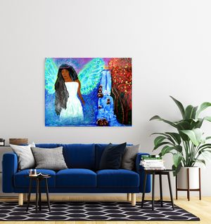 Angel of blessing original acrylic painting for Sale in Pompano Beach, FL
