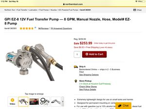 12 volt fuel pump for Sale in Channelview, TX