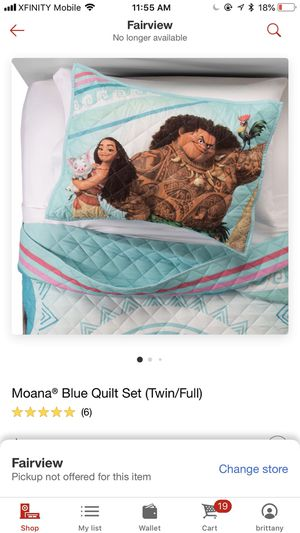 Moana quilt comforter twin/full for Sale in Portland, OR