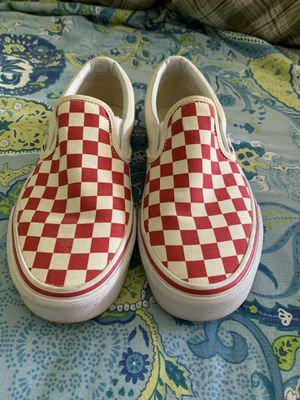 Vans red and white checker slip ons for Sale in Oceanside, CA