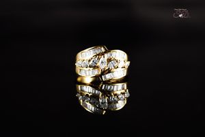 Oval & Baguette's Yellow Gold Women's Diamond Ring for Sale in Chicago, IL
