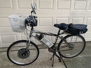 Marin bicycle with electric motor, small frame for Sale in Humble, TX