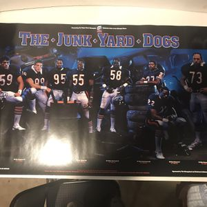 Vintage Chicago Bears Poster for Sale in Plainfield, IL