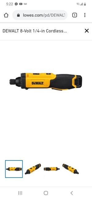 Dewalt DEWALT 8-Volt 1/4-in Cordless Screwdriver (1-Battery Included and Charger Included) for Sale in Joplin, MO