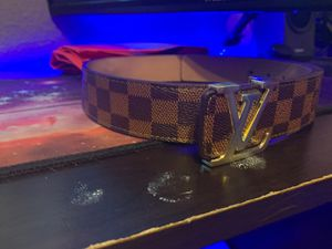 Louis Vuitton Belt Checkered brown for Sale in Sacramento, CA