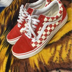 Red Checkered Old School Vans for Sale in Eureka,  CA