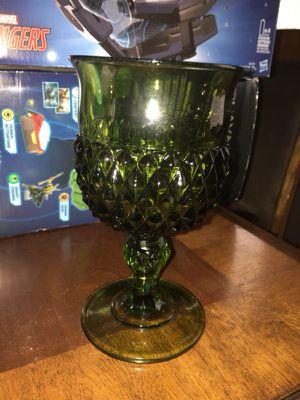 Vintage Antique Green depression glass goblets for Sale in Cameron, NC