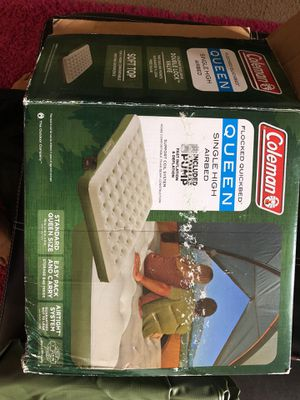 Coleman queen airbed along with pump for Sale in Columbus, OH