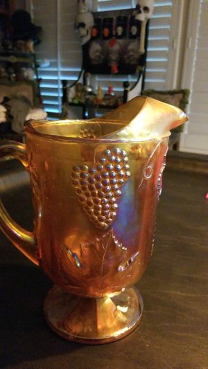 age 5 out of 5 stars(63)63 reviews Vintage Amber Glass Carnival Glass Pitcher for Sale in Riverside, CA