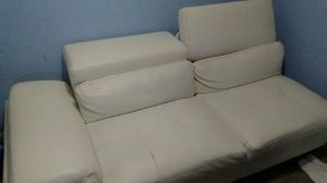 Soho white leather couch $24 for Sale in Garland, TX