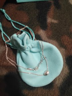 SOLD. Tiffany & Co Jewelry. mini bean necklace 18 1/2 inch...if you see, it's available :) for Sale in Yuma,  AZ