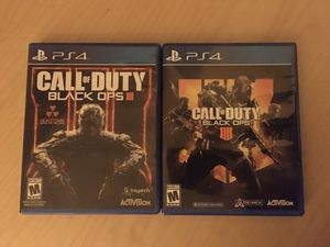 Ps4 Call of Duty: Black Ops 3 and 4 for Sale in Tacoma, WA