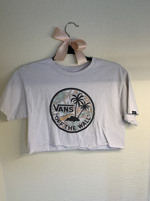 Vans cropped top size Medium for Sale in El Cajon, CA