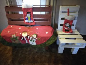 Handmade bench and chair for Sale in Bangor, ME