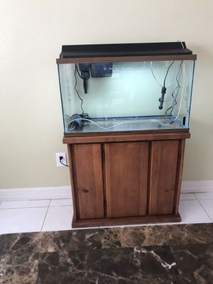 Complete Aquarium with stand ,pump and filter in good working condition for Sale in Rowlett, TX