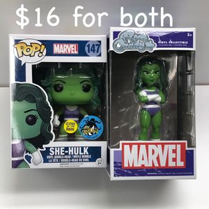 Funko POP Marvel She-Hulk $10 each/$16 for both for Sale in Spring Hill, FL