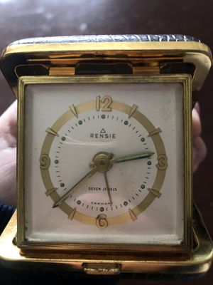 Antique Rensie Seven Jewels Travel Clock for Sale in Burlington, MA