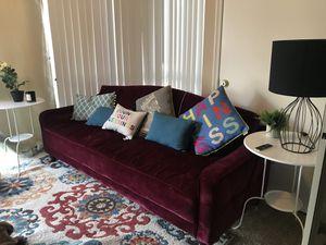 Sofa Sleeper + 6 Pillows + 2 Side tables for Sale in Arlington, VA