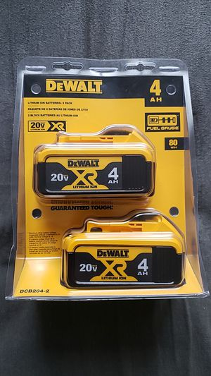 Dewalt 20v 4.0 battery 2pack brand new unopened $80 FIRM NO OFFERS for Sale in Fresno, CA
