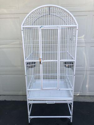 """A&E Cage Company White Classico Dometop Medium Bird Cage, 24"""" L X 22"""" W X 61"""" H for Sale in Grove City, OH"""