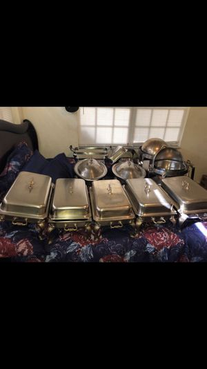11 Antique Restaurant Chafing Dish for Sale in West Palm Beach, FL
