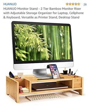 Desk Computer screen stand/ organizer for Sale in Commerce, CA