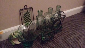 Nice green glass collection for Sale in Arnold, MO