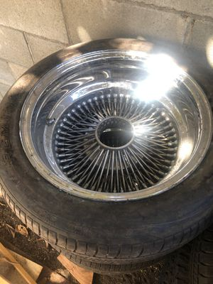 "Set of 15"" Dayton's needs knock off, and set of 15"" aluminum wheels I had on a 92 Jeep Wrangler for Sale in Los Angeles, CA"