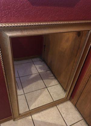 Gold heavy duty wall mirror for Sale in Wichita, KS