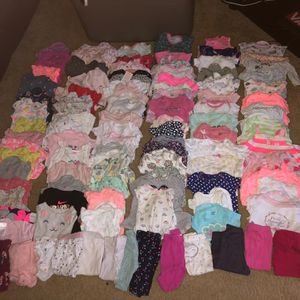 100 Pc Baby Girl Clothes and accessories 0-6 Months for Sale in Highland, CA