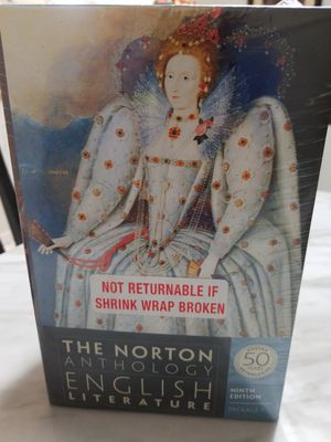 The Norton Anthology of English Literature Ninth 9th Edition Package 1 A,B,C NEW for Sale in Houston, TX