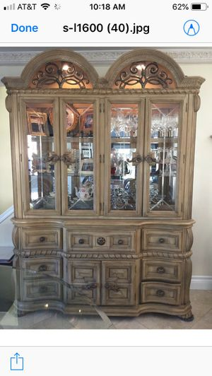 Gorgeous Large Wood Lighted China Cabinet for Sale in Tustin, CA