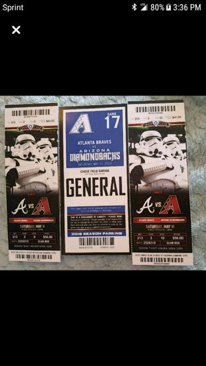 Game 17 AZ Diamondback vs Atlanta Braves for Sale in Apache Junction, AZ
