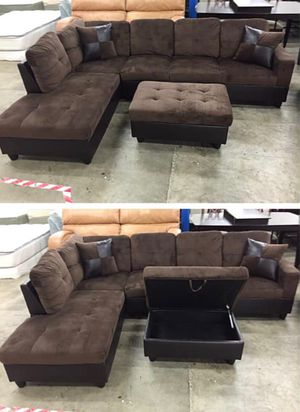 Brown Microfiber Corner Sectional Couch for Sale in Auburn, WA