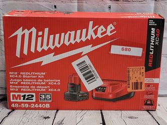 Milwaukee M12 Redlithium XC4.0 Starter Kit for Sale in San Jose,  CA