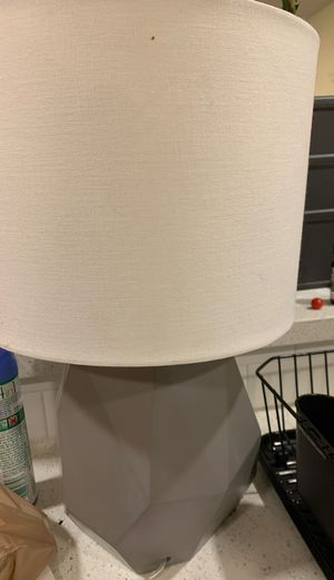 Lamp grey geometric for Sale in Lake Oswego, OR