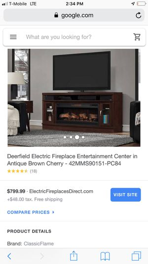 Fireplace tv stand with Bluetooth speakers for Sale in Lexington, KY