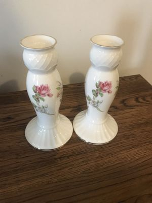 Porcelain rose candle holders for Sale in Ellicott City, MD