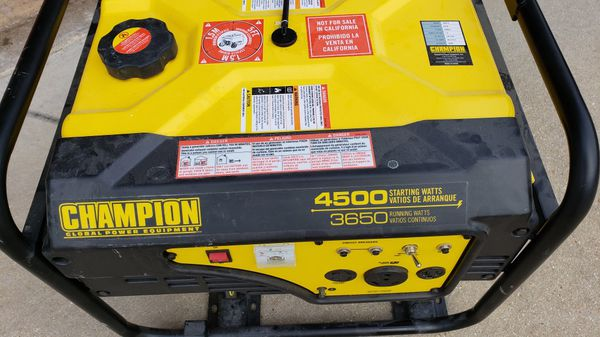 Champion 3650 Watt Portable Generator