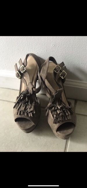 Taupe Fringe wedges Sz 7 for Sale in Santa Ana, CA