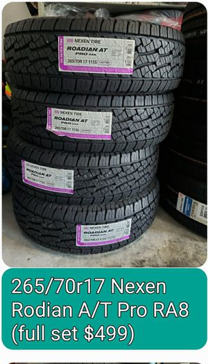 Brand new 265/70r17 Nexen A/T pro Tires for Sale in Norfolk, VA