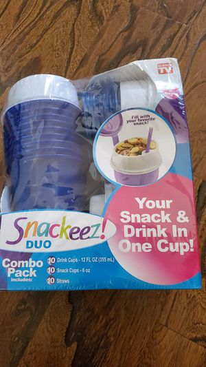 New snackeez cups 10count bpa free for Sale in Murrieta, CA