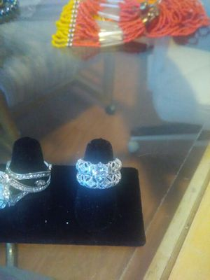 Exquisite Princess cut 18 k. White Gold Ring Set for Sale in Las Vegas, NV