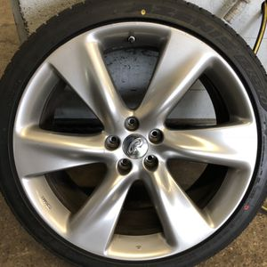 """4 Infiniti FX50S / QX70S oem 21"""" Wheels with Low Pro Tires for Sale in Warwick, RI"""