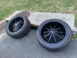 22 wheels with 285 universal 6-bolt tires for Sale in Arlington, VA