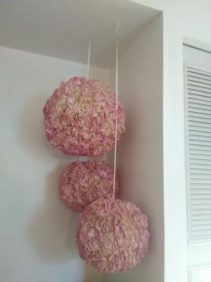 Party decor poms, quinceañeras, weddings, baby shower, birthday, boy or girl room decoration for Sale in Scottsdale, AZ