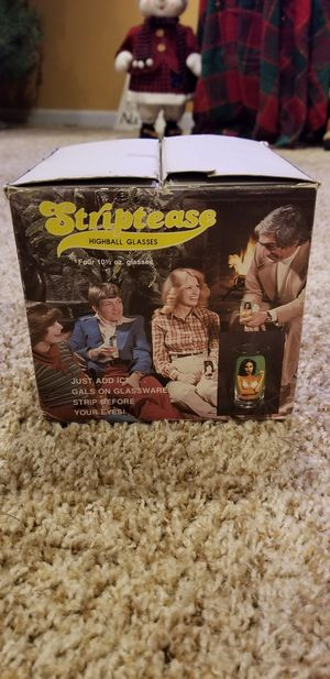 1977 striptease high ball glasses for Sale in West Terre Haute, IN
