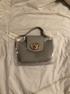 Clear/Grey removable wallet handle bag for Sale in District Heights, MD