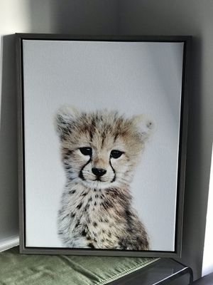 Sylvie Cheetah Framed Canvas by Amy Peterson for Sale in Alexandria, VA